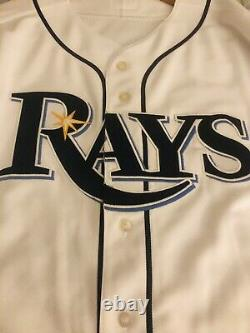 New Tampa Bay Rays Mens 44 MLB Majestic Authentic Baseball Jersey