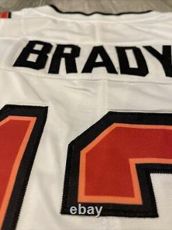 New Tom Brady #12 Tampa Bay Buccaneers Super Bowl LV 55 Jersey White Size L