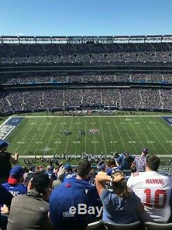 New York Giants vs Green Bay Packers 12/1/19 2 Tickets on the 50 With Parking