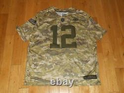 Nike AARON RODGERS GREEN BAY PACKERS Salute To Service Camo NFL Team JERSEY XXL