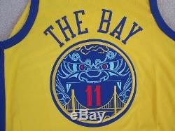 Nike AUTHENTIC'THE BAY' #11 Klay THOMPSON Game Worn Jersey Men M NEW REAL DEAL