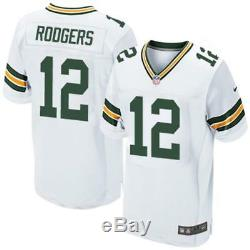Nike Aaron Rodgers Elite Jersey AA5469-100 Green Bay Packers Away Sz 52