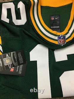 Nike Aaron Rodgers Untouchable Green Bay Packers Pro Cut Jersey Sewn Mens Sz 44