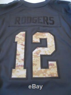 Nike Aaron Rogers Green Bay Packers Salute to Service Women's Jersey Size 2XL