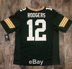Nike Elite Aaron Rodgers Green Bay Packers Authentic On Field Jersey Sz 48 XL