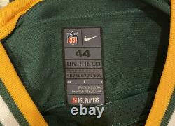 Nike Elite Green Bay Packers NFL Aaron Rodgers Size 44 Authentic On Field Jersey