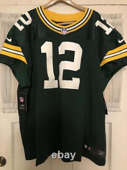 Nike Elite Green Bay Packers NFL Aaron Rodgers Size 60 Authentic On Field Jersey