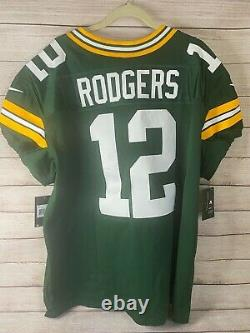 Nike Elite NFL Aaron Rodgers Green Bay Packers Jersey 913569-323 44 LARGE $325