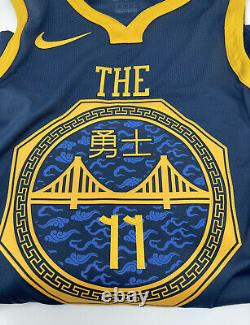 Nike GSW The Bay City Stitched Thompson 11 Authentic Jersey AH6209-430 Size 40