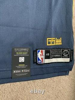 Nike GSW The Bay City Stitched Thompson Authentic Jersey AH6209-430 Size Large