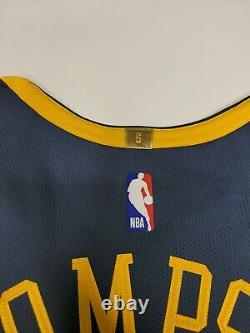 Nike GSW The Bay Stitched Klay Thompson 11 Authentic Jersey Size 48 L AH6209-430