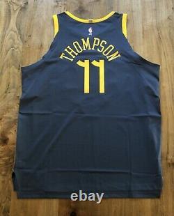 Nike GSW The Bay Stitched Klay Thompson Authentic Jersey Size 56 XXL AH6209-430