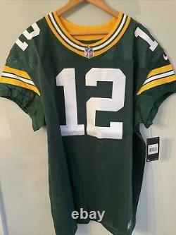 Nike Green Bay Packers NFL Aaron Rodgers Size 52 Authentic Nike On Field Jersey