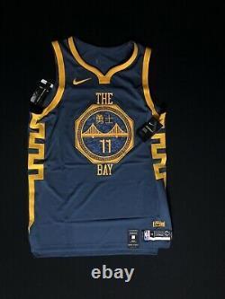 Nike Men's Size L 48 Klay Thompson The Bay City Vaporknit Jersey AH6209-430