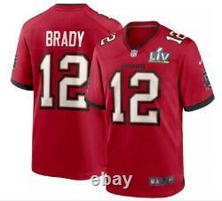 Nike Men's Tampa Bay Buccaneers Tom Brady #12 Super Bowl LV Jersey NFL Bucs
