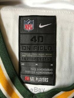 Nike Mens Aaron Rodgers Elite Jersey Green Bay Packers Away Size 40 Authentic