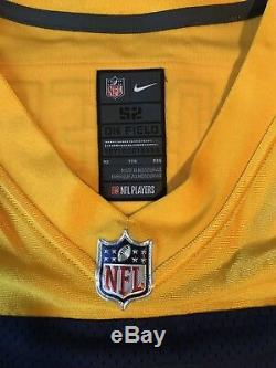 Nike Mens Aaron Rodgers Elite Jersey Sz 52 2XL Green Bay Packers Alternate Navy