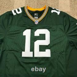 Nike Mens Football Jersey NFL Green Bay Packers #12 Rodgers Green Size 3XL