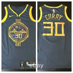 Nike NBA Golden State Warriors Steph Curry City Edition Bay CNY LNY Jersey XL 52