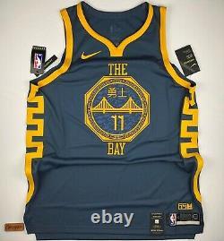 Nike NBA Klay Thompson The Bay City VaporKnit Authentic Jersey AH6209-430 Sz 52