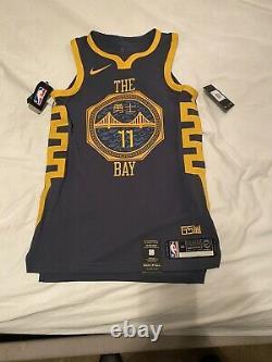 Nike NBA Klay Thompson The Bay City VaporKnit Authentic Jersey Sz 40 AH6209-430