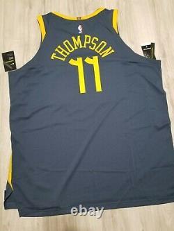 Nike NBA Klay Thompson The Bay City VaporKnit Authentic Jersey Sz 58 AH6209-430