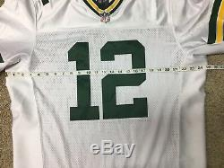Nike NFL Aaron Rodgers Green Bay Packers ELITE White Jersey Mens Size 48 NWT