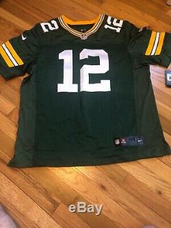 Nike NFL Green Bay Packers Aaron Rodgers 12 Jersey Size 48 $295 Retail