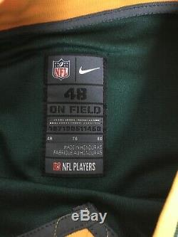 Nike NFL Onfield Elite Green Bay Packers Blank Jersey Sz 48 XL NWT $325 Rare