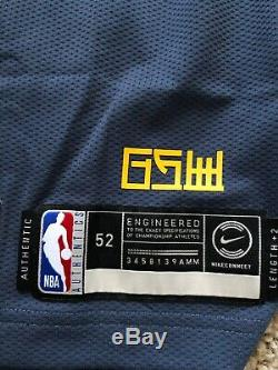 Nike Steph Curry Golden State Warriors Bay City Edition Authentic Jersey Size 52
