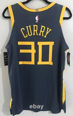 Nike Steph Curry The Bay City Edition Authentic Jersey AH6209-427 Sz 44 Medium