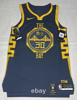 Nike Stephen Curry Jersey The Bay City Edition Size 44 Medium Vaporknit NWT Blue