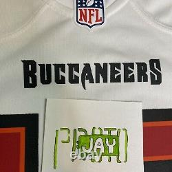 Nike Tampa Bay Buccaneers Tom Brady White Game Jersey Size L Authentic