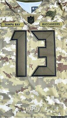 Nike Tampa Bay Bucs Medium Mike Evans Camo Salute to Service Football Jersey New