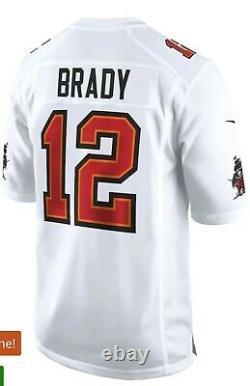 Nike Tom Brady Tampa Bay Buccaneers Men's Super Bowl LV Bound White Jersey 2XL