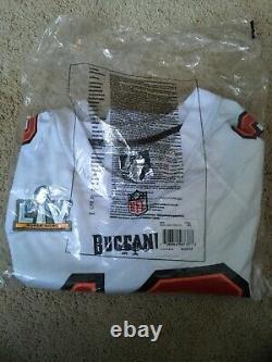 Nike Tom Brady Tampa Bay Buccaneers Super Bowl LV Bound Fashion White Jersey XXL