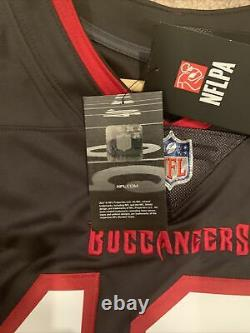 Nike Tom Brady Tampa Bay Buccaneers Vapor Limited Jersey Pewter Medium Authentic