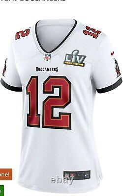 Nike Tom Brady Tampa Bay Buccaneers Women's Super Bowl LV Bound White Jersey 2XL