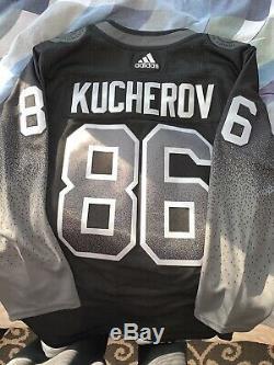Nikita Kucherov Tampa Bay Lightning Adidas Authentic Alternate Jersey 50 $225