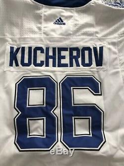 Nikita Kucherov Tampa Bay Lightning Adidas Ice Hockey White Jersey Large NEW