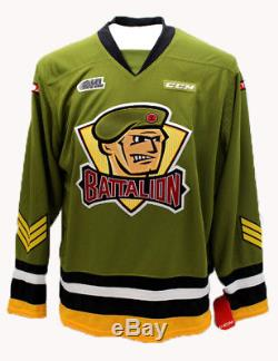 North Bay Battalion OHL Premier Edge Home Replica Jersey Large