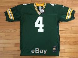 Nwt Mens Green Bay Packers Brett Favre Reebok Helmet Tag Jersey Size 50