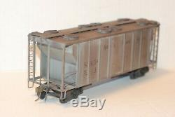 O Scale 2 Rail NJ Custom Brass (Not USH/MG) NKP 2 Bay Covered Hopper PSC Box