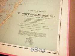 Original Antique Map of Barnegat Bay, New Jersey, 1888, More Regions Available