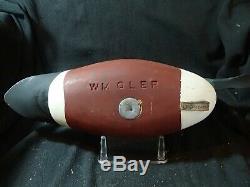 Pair rigmate Shoveler decoys Barnegat Bay style by W. M. Oler Beach Haven, NJ