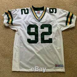 Rare Authentic NFL Proline Reggie White Green Bay Packers Jersey Size 48 by Nike