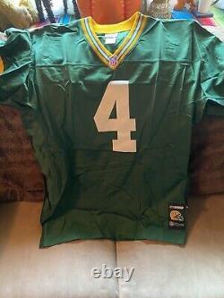 Rare NFL Authentic Reebok Green Bay Packers Brett Favre Jersey 52 Large XL
