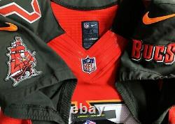 Red-pro-44 Tom Brady Tampa Bay Buccaneers Sleeve Authentic NFL Nike Jersey