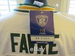 Reebok NFL Men's Jersey Green Bay Packers White #4 Brett Favre New SIZE 60