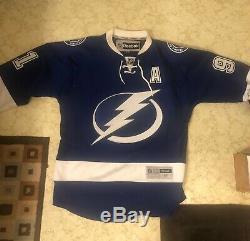 Reebok Premier NHL Jersey Tampa Bay Lightning Steven Stamkos Blue sz Mens Medium